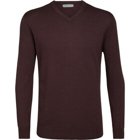 Icebreaker Shearer Sweater Herrer, merlot heather